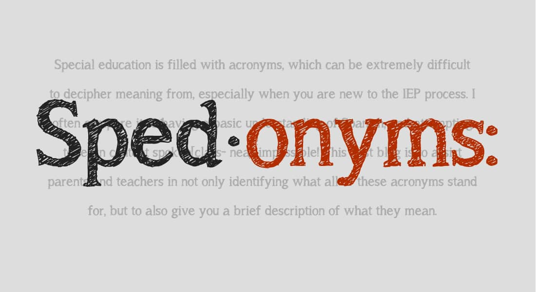 Sped-onyms